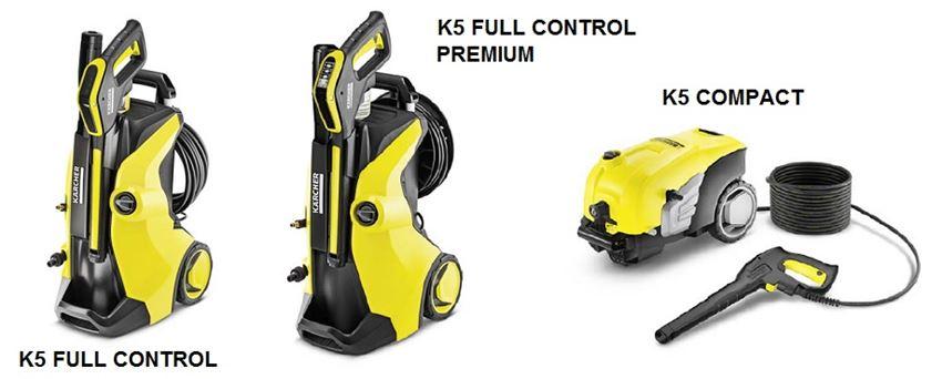 Modelos de Hidrolimpiadoras Karcher K5