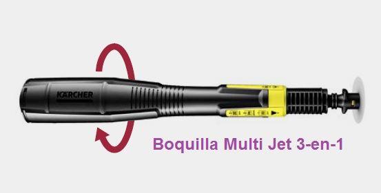 Boquilla con el Sistema Multi Jet 3-en-1
