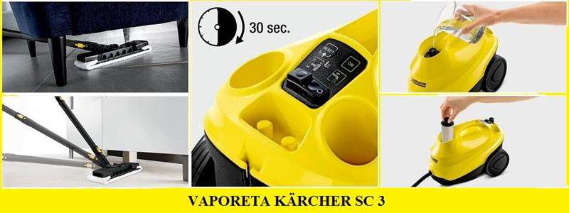 VAPORETA KARCHER sc 3 - La limpiadora de vapor favorita de los usuarios exigentes