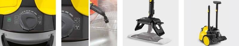 Vaporeta SC5 - Con accesorios que ayudan a aumentar su rendimiento