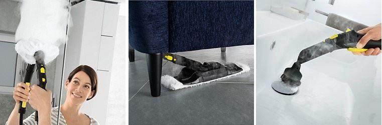 Vaporeta karcher SC 5 - Con los accesorios ideales para completar la limpieza del hogar