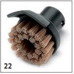 SC! karcher vaporeta - Cepillo redondo con rascador