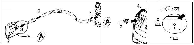 Trabajar con herramientas eléctricas aspirador WD3 - ventakarcher