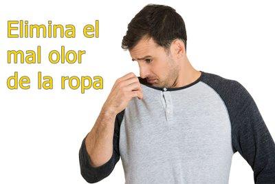Elimina el mal olor de la ropa