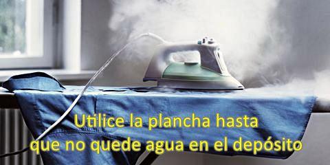 Limpiar la suela de la plancha con bicarbonato y agua