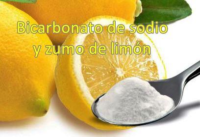 Zumo de limon y bicarbonato de sodio para limpiar la suela de la plancha