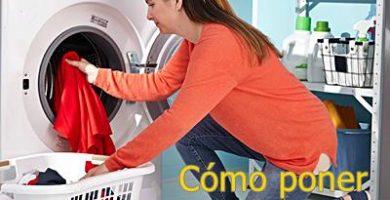 como poner una lavadora
