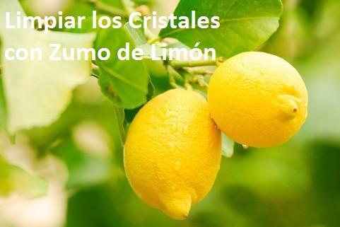como limpiar cristales con limones