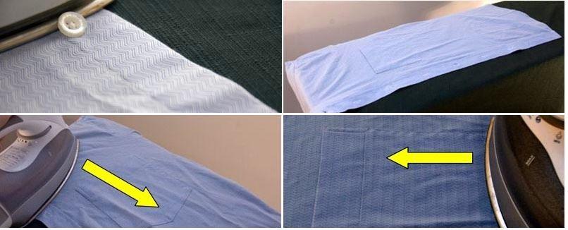 Planchar la parte frontal de la camisa