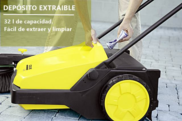 Con depósito más amplio las karcher 750 s podrás limpiar espacios más grandes sin tener que vaciarlo.