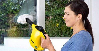 Limpiar cristales con vaporeta