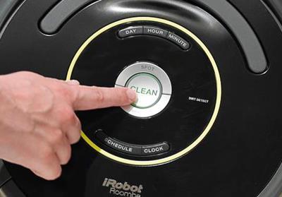 Botón de inicio del roomba 650