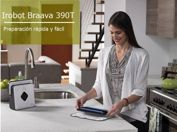 El Braava 390T se prepara facil y rápido